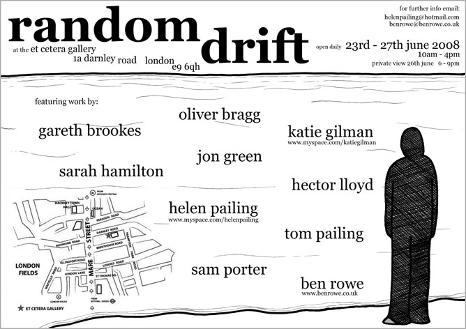 'Random Drift' flyer